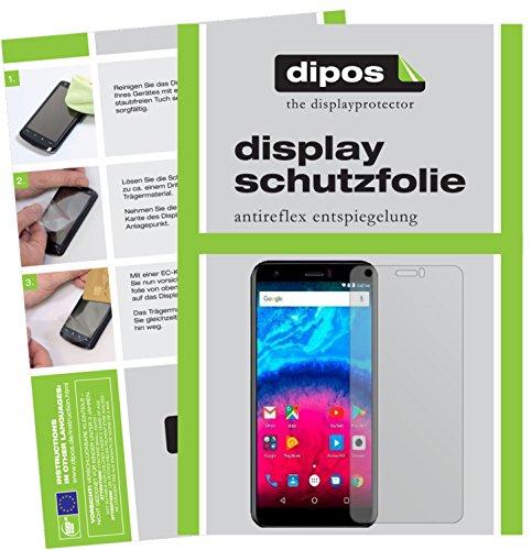 dipos I 2X Schutzfolie matt kompatibel mit Archos Core 55S Folie Bildschirmschutzfolie