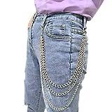 Honbay Unisex Hip Hop Punk Trousers Chain Wallet Chain Jeans Pant Chain...