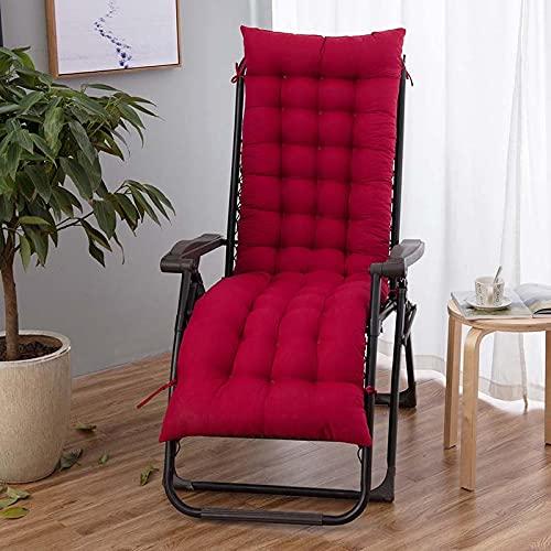Sun Lounger Kissen Pads Garten Garten Veranda Schreibtisch Liegestühle Rücken Relaxer Pad Sessel Kissen Für Chaise Longue WineRed (2Size)