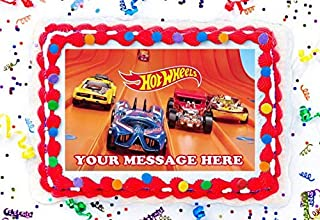 Hot Wheels Cake Topper Edible Image Personalized Cupcakes Frosting Sugar Sheet (8