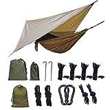 MRYX Camping Hamac Moustiquaire Durable Compact Suspendus Parachute Nylon Tissu Hamac...