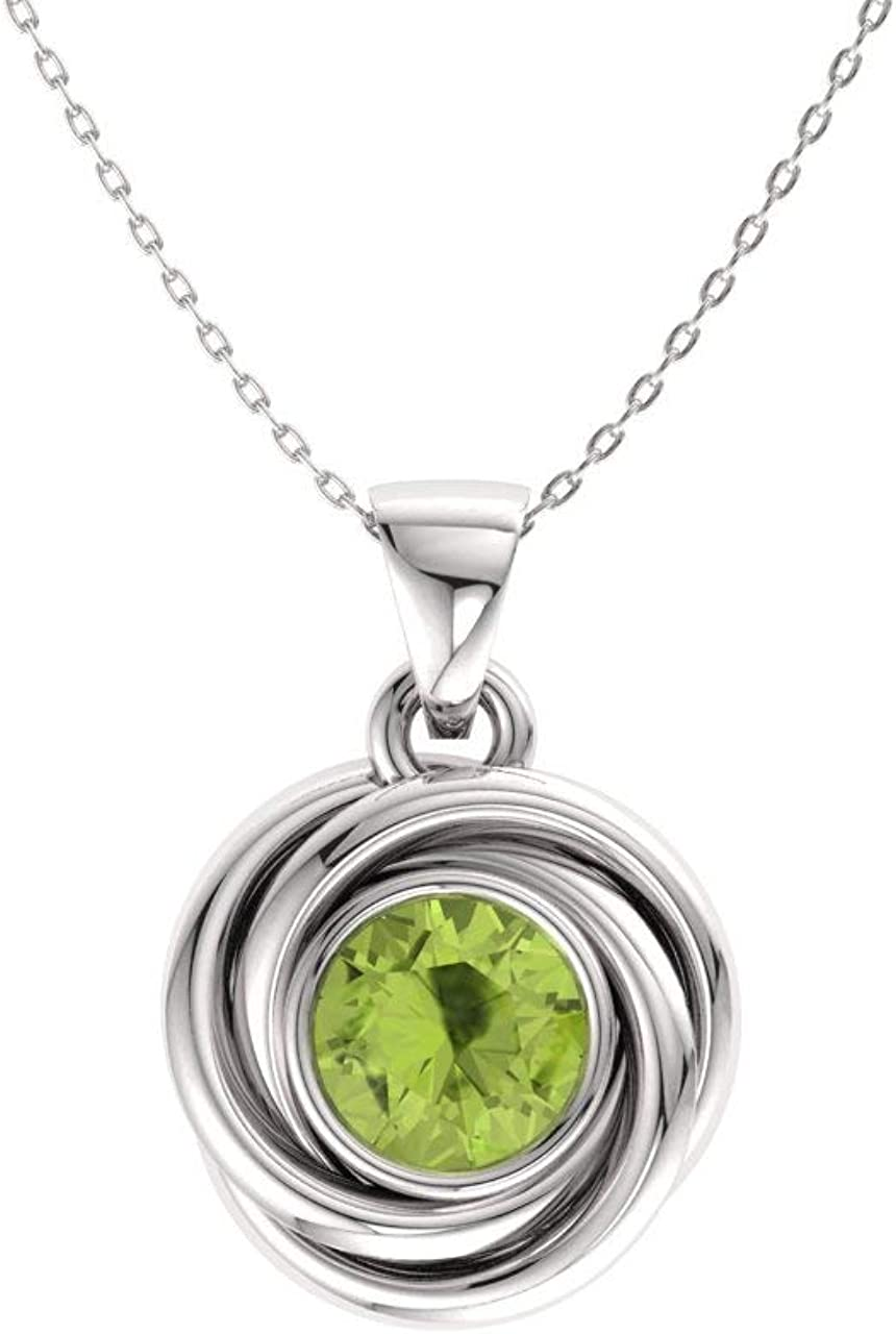Diamondere Natural Boston Mall and Certified free Solitaire Gemstone Necklace in