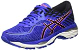 asics t7b8n4890, scarpe running donna, blu (blue purple/black/flash coral), 39 eu