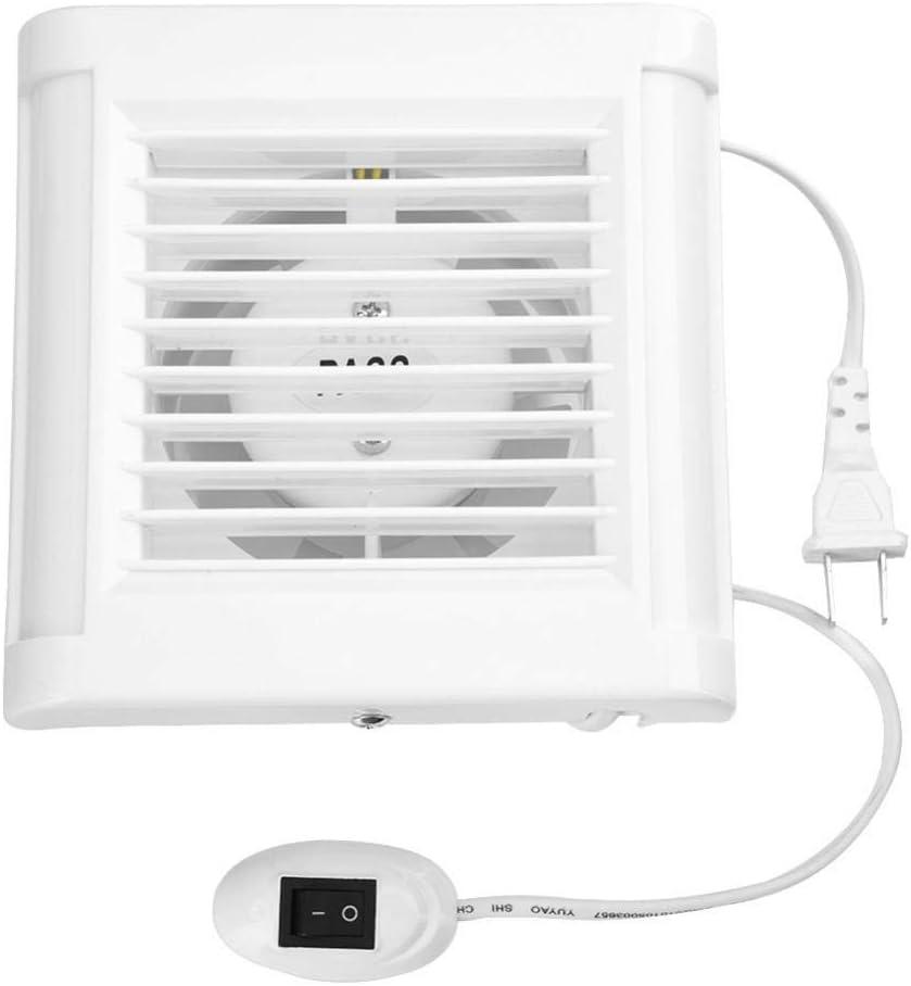 Ventilador de escape montado en la pared de 15W 220V Bajo ruido Hogar Baño Cocina Garaje Ventilación Ventilación Ventiladores