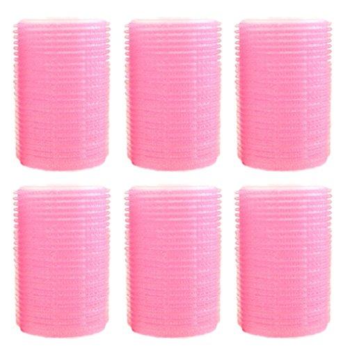 3x Toruiwa Bigoudis Magiques Cheveux Salon Coiffure Diy les Cheveux Maison Rose