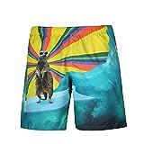 WHLDK Personnalité Animal Maillot 3D Mode Impression Beach Pantalon Taille Occasionnels Pantalons Hommes Détendu Map Color XL Shorts