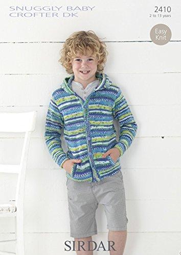 Sirdar Boys Hooded Jacket Baby Crofter Knitting Pattern 2410 DK