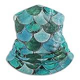 shenguang Scaldacollo in microfibra Blue Mermaid Tail Vintage Neck Gaiter Tube Scaldacollo Fascia per capelli Sciarpa Maschera per il viso Passamontagna