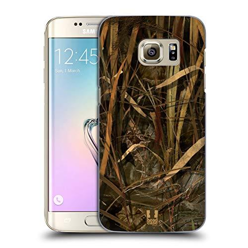 Head Case Designs Temporada de Pato Seco/Aves Acuáticas Insignia de Camuflaje Hunting Carcasa rígida Compatible con Samsung Galaxy S7 Edge