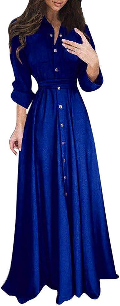 Kleider Damen Kleid Bluse Elegant Lose Business Langarm Einfaches Beilaufiges Herbst Winter Viskose Polo Shirt Hemdkleid Petticoat Lassige Mode Revers Maxi Langes Shirt Kleid Amazon De Bekleidung