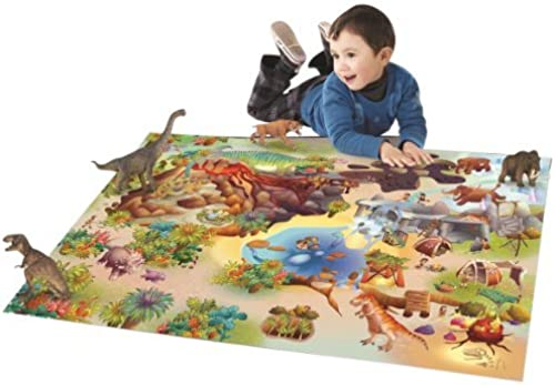 House Of Kids - 11237-e3 - Quadri - Tapis De Jeu - Dinosaures Connect - 100 X 150 Cm by House Of Kids