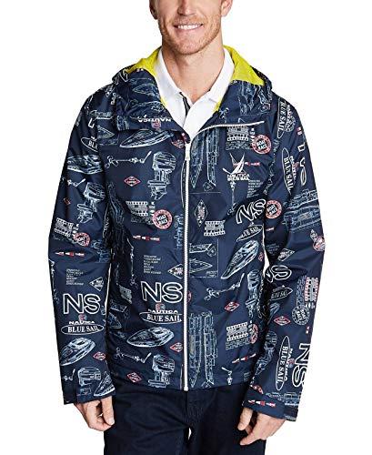 Nautica Men's Jacket Full-Zip Graphic Print Hooded Blue 2XL