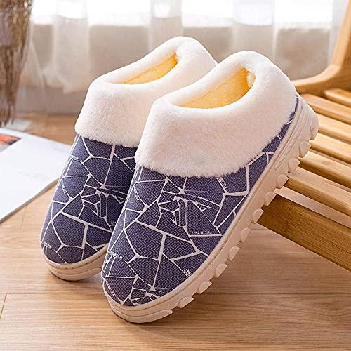 Winter Non-Slip Indoor Couple Thickening Plush Warm Cotton Shoes Ladies