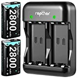 2800mAh Controller Battery Pack for Xbox One/Xbox Series X/Xbox One S/Xbox One X/Xbox One Elite, Rapthor 2 x 2800mAh High Power Rechargeable Series X Batteries Kit with Charger (2 Batteries+Charger)