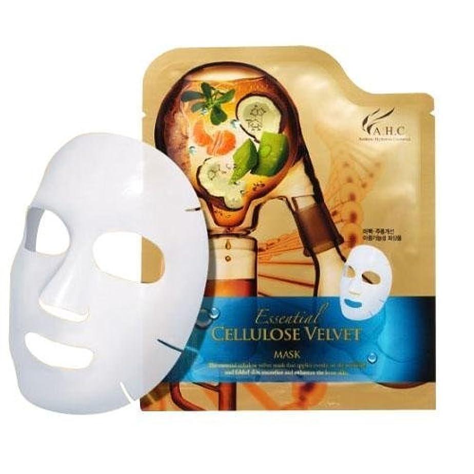 り最愛の夜A.H.C Essencial Cellulose Velvet Mask (30g*1EA)/ Made in Korea