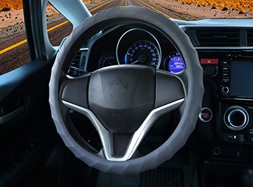 Coque en silicone souple de volant de voiture. Housse de volant pour voitures, camionnettes, camions et SUV