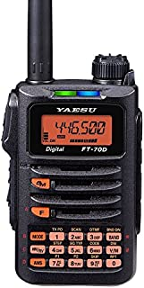 Yaesu FT-70DR 144/430 MHz DUAL BAND 5W Handheld Transceiver with MARS/CAP Modification for Extended Transmit Frequency Ranges
