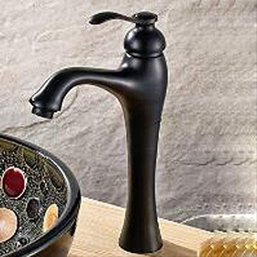 Europäischebadezimmer Vintage A 1,Waschtischarmatur,Wasserhahn Bad, Badarmatur mit hochwertigem und Keramikventilen, verchromtes Messing, heißes und kaltes Wasser vorhanden, Waschbecken Wasserhahn