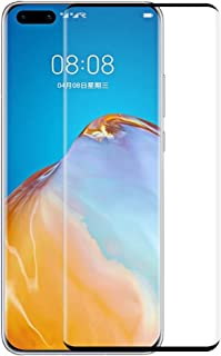 SHUHAN Tempered Glass Film For Huawei P40 Pro Hat-Prince 0.26mm 9H 3D Explosion-proof Full Screen Curved Heat Bending Temp...