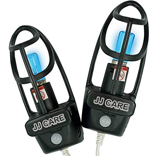 UV Shoe Sterilizer w/Fan, Shoe Sanitizer & Odor Eliminator, 2-in-1 UV Shoe Sanitizer and Dryer, Fits Any Shoe Size, Boot Sterilizer, Hat and Car Sterilizer, Auto Shutoff w/Infrared Sensor, 1 Pair