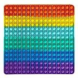 BEAUTYBIGBANG Push Pop Bubble Sensory Fidget Spielzeug Übergroß 256 Bubbles utism ADHD Special Needs Stress Reliever Spielzeug Simple dimple Fidget Toy,POP IT Fidget Toy Antistress Spielzeug (2)