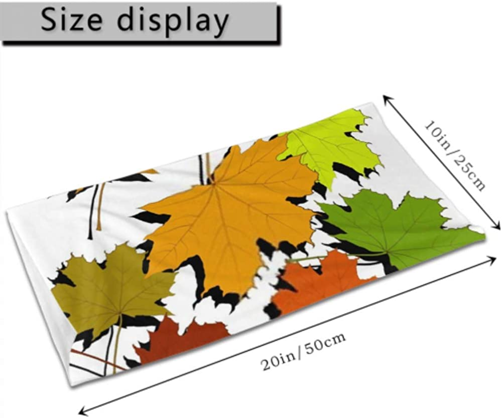 Headbands For Men Women Neck Gaiter, Face Mask, Headband, Scarf Colorful Autumn Maple Leaves On White Turban Multi Scarf Double Sided Print Running Headband For Sport Outdoor