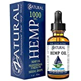 1,000mg Zatural Hemp Oil Drops: Hemp Seed Oil for Pain Relief, Anxiety, Stress, Relaxation, Better Sleep and Mood – Natural, Anti Inflammatory and Immune Support. (1,000mg Peppermint)