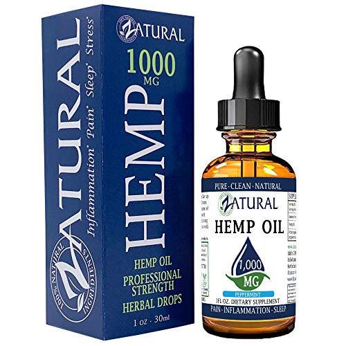 Hemp Oil Anti-Inflammatory_Pain Relief_100% Pure_Cold Pressed_High Vegan Omegas 3 & 6_No Fillers or Additives, Therapeutic Grade (600mg)