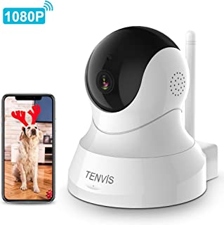Dog Camera - TENVIS 1080P Pet Camera with Phone App Speaker, Wireless Baby Monitor Camera with Motion Detection, 2-Way Audio, Night Vision, Indoor Security Camera with Android & iOS APP