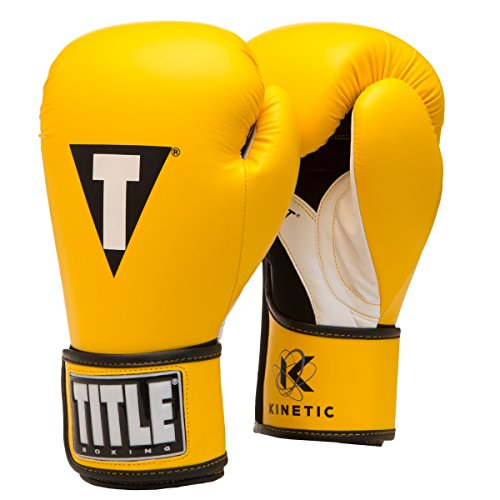 Title Boxing Kinetic Aerovent Boxing Gloves, Yellow/Black, 14 oz