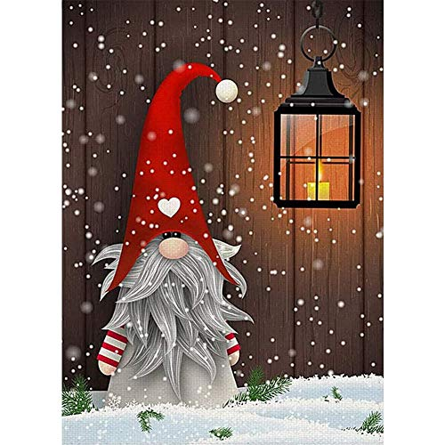 Santa Claus Diamond Painting, Full Drill Christmas Diamond Painting for Adults and Kids,Round Gem Art Perfect for Relaxation and Home Wall Decor Gift(12x16inch)
