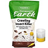HARRIS Diatomaceous Earth Crawling Insect Killer, 4lb with Powder Duster Included...