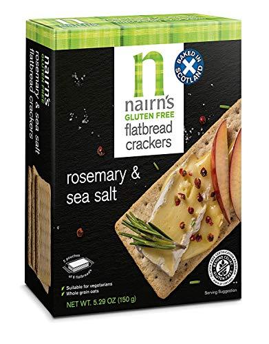 Nairn's Gluten Free Flatbread Crackers, Rosemary & Sea Salt, 5.29oz (Pack of 6)