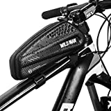 """WILD MAN Bike Bicycle Bag, Top Tube Bike Bag Bicycle Front Frame Phone Bag Compatible with Android/iPhone Cellphones Under 6.5"""""""