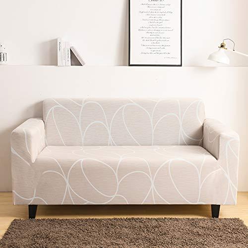 Mayama Copridivano elasticizzato stampato, copridivano 1 posto, bei motivi, protezione per mobili, rivestimento per poltrone e divani, copridivani economici, 1 posto (90-140 cm)