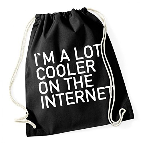 Certified Freak I Am A Lot Cooler On The Internet Borsa De Gym Nero