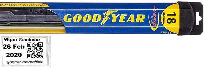 Hybrid - Passenger Windshield Wiper Bundle - 2 Items: Passenger Blade & Reminder Sticker fits 2015-2018 Volkswagen Golf