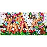 DIY Diamond painting Kit Caricatura, mujer gorda Cuadros Diamantes 5D Bordado punto de cruz cristal Rhinestone lienzo a mano Artesanía decor de paredes del hogar regalos Round-drill-60x120cm