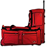 XXL Reisetasche - Trolley - Koffer - Tasche - Trolleytasche Miami mit Farbauswahl (rot)
