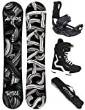 Airtracks Snowboard Set - TAVOLA Twisted Wide 158 - ATTACCHI Master - Softboots Strong 44 - SB Bag