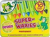 Jolly Superwaxies Wachsmalkreiden  Permanent  10 Stück im Metalletui