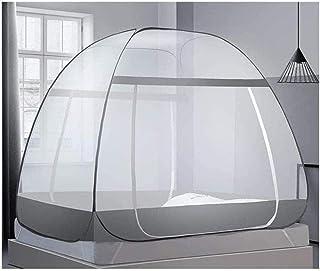 庭の蚊帳のテントの旅行ベッドのおおいのカの保護屋内屋外の折りたたみ式の旅行テント安全なインストールが容易な枕付きのポータブル通気性の蚊帳-d 110x65x65cm