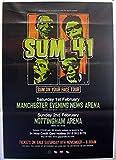 Sum 41: Manchester + Nottingham | original UK Promo Poster