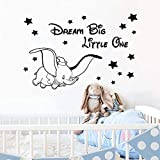 Graz Design - Adhesivo decorativo para pared, diseño de Dumbo Dream Big Little One