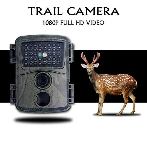Cuttey Wildkamera Fotofalle 12MP 1080P HD Jagdkamera Nachtsicht Bewegungsmelder IP54 Wasserdichter & Staubdicht Infrarotsensor 110 ° Weitwinkel Nachtsichtkamera
