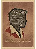 MOMEI Leinwand Poster Fight Club Poster Film Vintage Poster