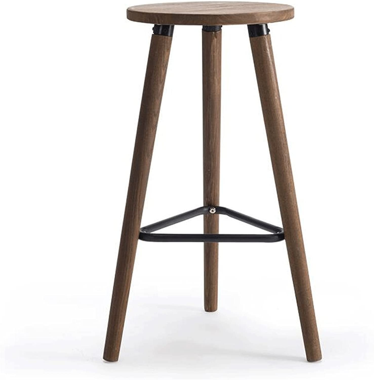 TXXM Barstools Solid Wood Bar Chairs High Stool Bar Chair Bar Cafe Business Hall Bar Stool