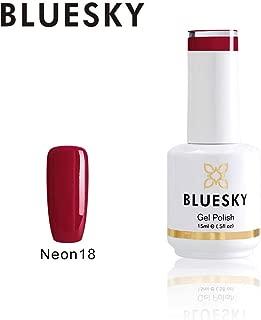 Bluesky Gel Nail Polish (neon18), Neon Rose, 15 milliliters