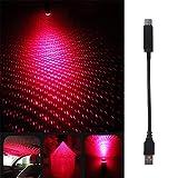 Stern Deckenleuchte Auto USB Stern Deckenleuchte Dachlichter Romantisches Nachtlicht Atmosphäre Dekoration Glasfaser Stern Deckenset Licht während Weihnachten begrenzte Zeit Angebot (Schwarz)