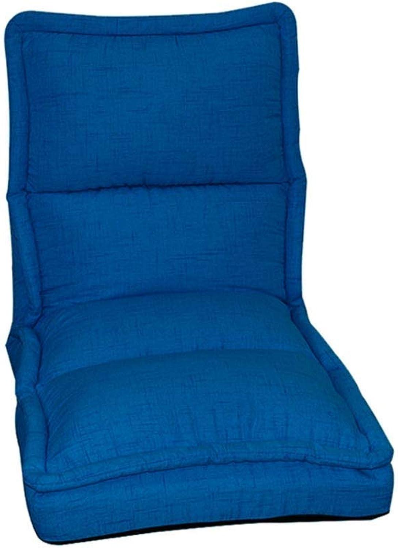 Qing MEI- Lazy Couch Faltbarer Boden Stuhl Schlafzimmer Balkon Bett Lesebuch Liege 5 Gang Einstellbare Rückenlehne Mittagspause Stuhl (Farbe   G)